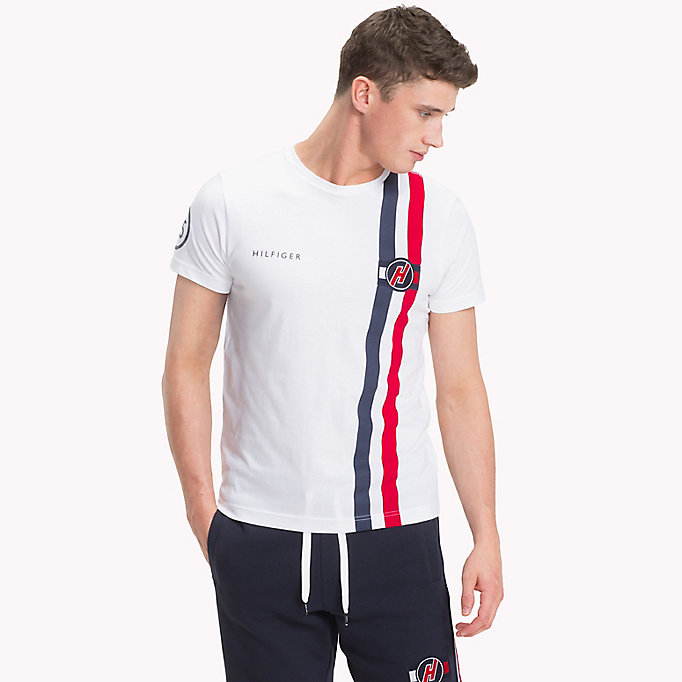 TOMMY HILFIGER Gestreept T-shirt met racing badge - FANFARE - TOMMY HILFIGER Heren - main image