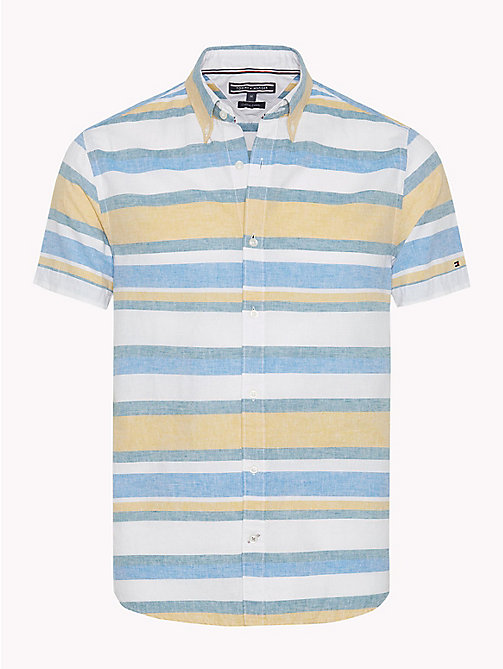 TOMMY HILFIGER Multicolour Stripe Shirt - MANGO MOJITO / BRIGHT WHITE - TOMMY HILFIGER Men - main image
