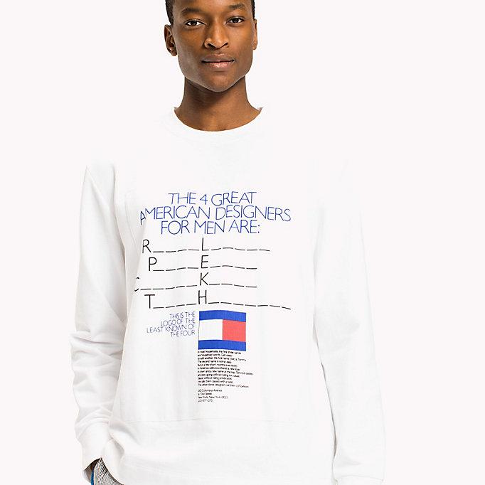 c0343a973617ed ... TOMMY HILFIGER Logo Sweatshirt - Be Bold - BRIGHT WHITE - TOMMY  HILFIGER Clothing - detail