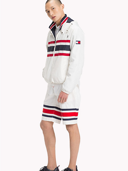 TOMMY HILFIGER Signature Stripe Hooded Jacket - SNOW WHITE 11-0602 - TOMMY HILFIGER Vacation Style - detail image 1