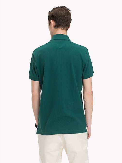 TOMMY HILFIGER Badge Appliqué Cotton Polo - FOREST BIOME - TOMMY HILFIGER Polo Shirts - detail image 1
