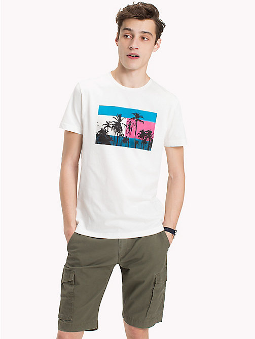 TOMMY HILFIGER Flag Print T-Shirt - SNOW WHITE - TOMMY HILFIGER Clothing - main image