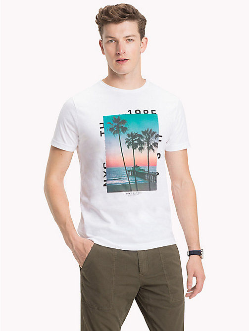 TOMMY HILFIGER Sunrise Print T-Shirt - BRIGHT WHITE - TOMMY HILFIGER Clothing - main image