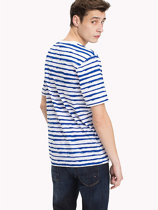 TOMMY HILFIGER Abstract Stripe T-Shirt - STRONG BLUE -  Vacation Style - detail image 1