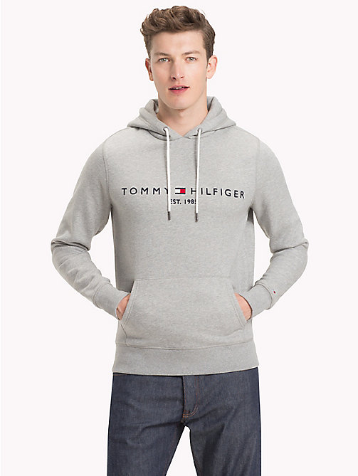 TOMMY HILFIGER Худи с логотипом - CLOUD HTR - TOMMY HILFIGER Худи - главное изображение