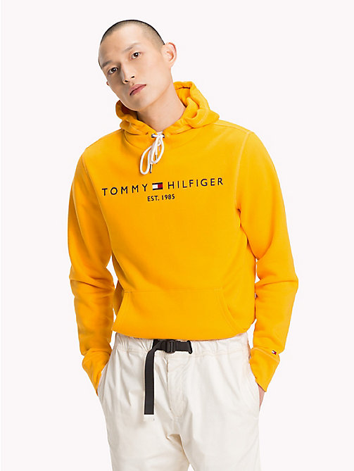 TOMMY HILFIGER Drawstring Logo Hoodie - ZINNIA - TOMMY HILFIGER Hoodies - main image