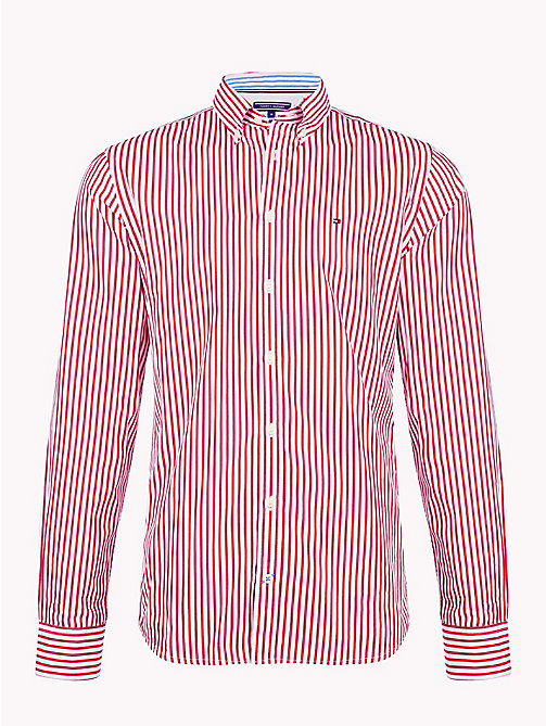 TOMMY HILFIGER All Over Stripe Shirt - HAUTE RED / BRIGHT WHITE - TOMMY HILFIGER Casual Shirts - main image