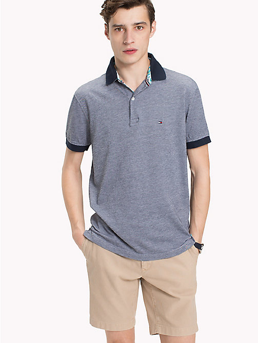 TOMMY HILFIGER Polo con colletto stampa tropical - SKY CAPTAIN - TOMMY HILFIGER Polo - immagine principale