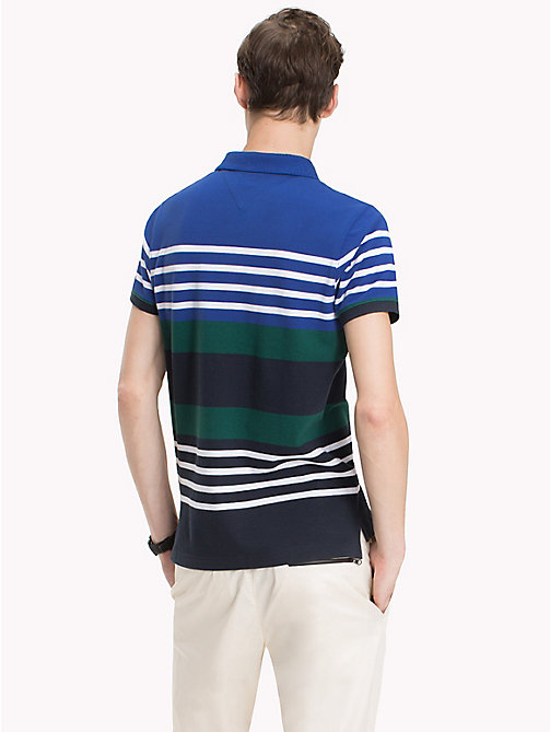 TOMMY HILFIGER Abstract Stripe Polo Shirt - MAZARINE BLUE/MULTI - TOMMY HILFIGER Polo Shirts - detail image 1