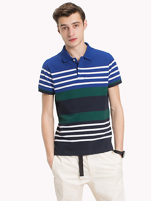 TOMMY HILFIGER Abstract Stripe Polo Shirt - MAZARINE BLUE/MULTI - TOMMY HILFIGER Polo Shirts - main image