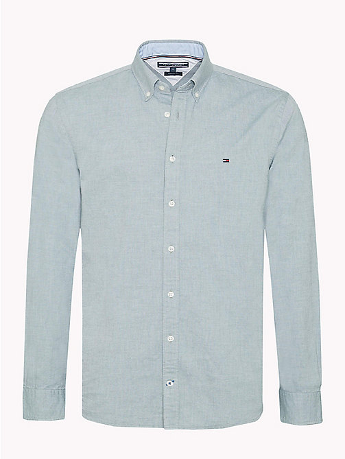 TOMMY HILFIGER Cotton Oxford Shirt - FOREST BIOME - TOMMY HILFIGER NEW IN - main image