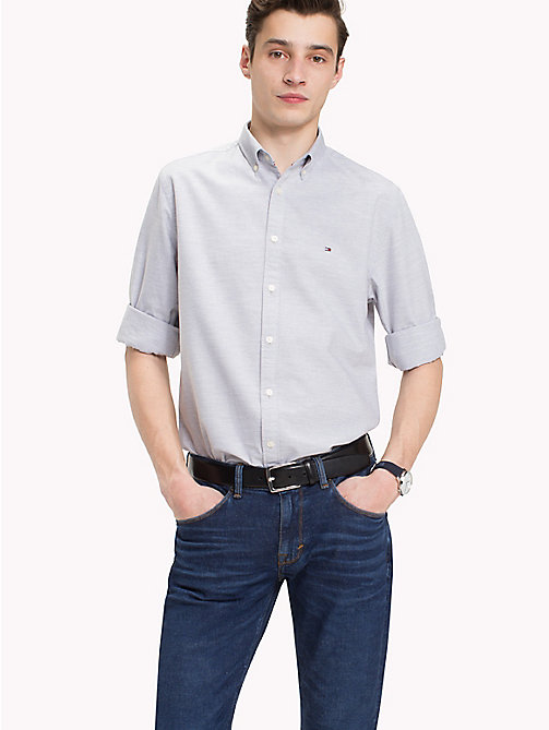 TOMMY HILFIGER Cotton Oxford Shirt - CLOUD HTR - TOMMY HILFIGER Casual Shirts - detail image 1