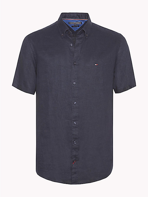 TOMMY HILFIGER Linen Button Down Shirt - SKY CAPTAIN - TOMMY HILFIGER Casual Shirts - main image