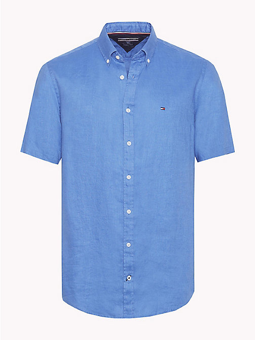 TOMMY HILFIGER Button-down-Bluse aus Leinen - STRONG BLUE - TOMMY HILFIGER Urlaubs-Styles - main image
