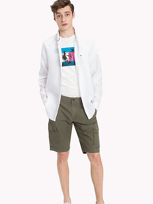 TOMMY HILFIGER Linnen regular fit overhemd - BRIGHT WHITE - TOMMY HILFIGER Casual overhemden - detail image 1