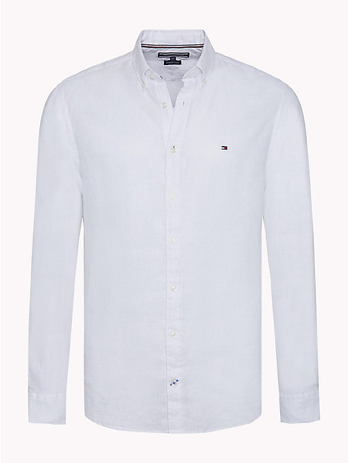 TOMMY HILFIGER Linnen regular fit overhemd - BRIGHT WHITE - TOMMY HILFIGER Casual overhemden - main image