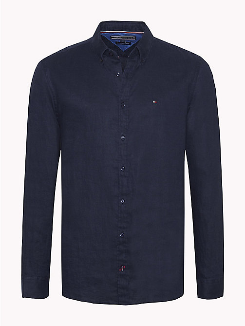 TOMMY HILFIGER Linen Regular Fit Shirt - SKY CAPTAIN - TOMMY HILFIGER Casual Shirts - main image