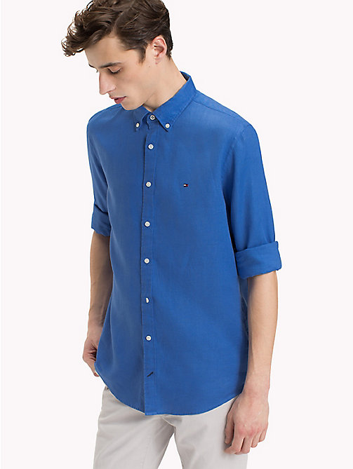 TOMMY HILFIGER Linen Regular Fit Shirt - STRONG BLUE - TOMMY HILFIGER NEW IN - detail image 1