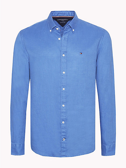 TOMMY HILFIGER Linen Regular Fit Shirt - STRONG BLUE - TOMMY HILFIGER NEW IN - main image