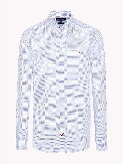 TOMMY HILFIGER Camicia slim fit stampata in cotone - BRIGHT WHITE / STRONG BLUE -  Camicie Casual - immagine principale