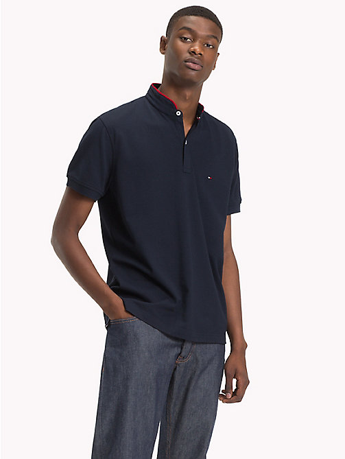 TOMMY HILFIGER Mandarin Collar Polo Shirt - SKY CAPTAIN - TOMMY HILFIGER Polo Shirts - main image