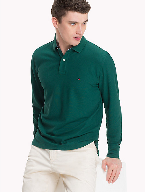TOMMY HILFIGER Regular Fit Polo Shirt - FOREST BIOME - TOMMY HILFIGER Polo Shirts - main image