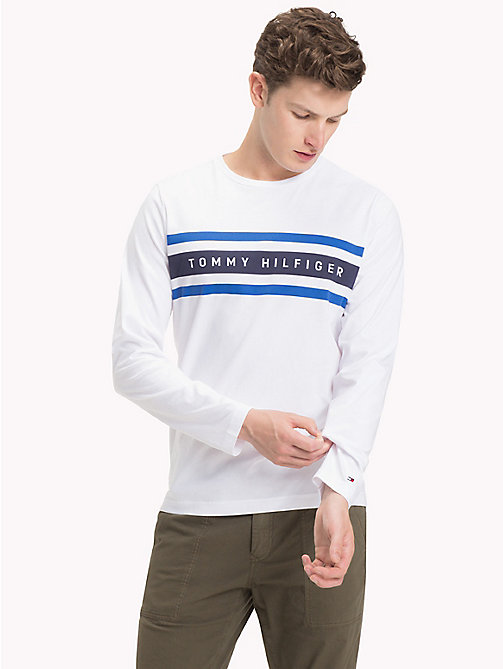 TOMMY HILFIGER Logo Band Long Sleeve T-Shirt - BRIGHT WHITE - TOMMY HILFIGER TOMMY'S PADDOCK - main image