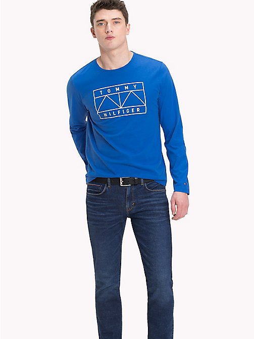 TOMMY HILFIGER Graphic Logo Long Sleeve T-Shirt - STRONG BLUE - TOMMY HILFIGER T-Shirts - main image