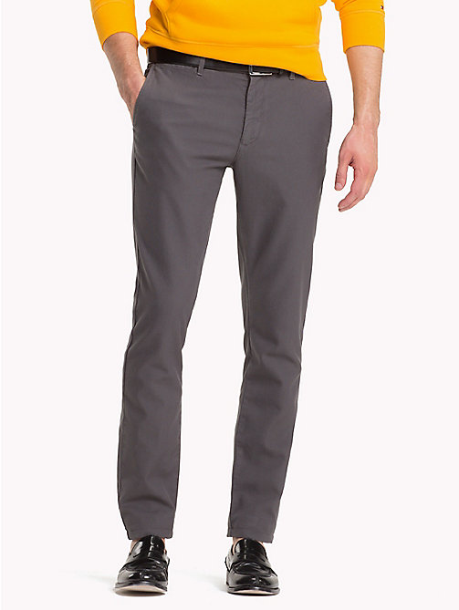 TOMMY HILFIGER Honeycomb Slim Fit Chinos - GRAY PINSTRIPE - TOMMY HILFIGER Clothing - main image