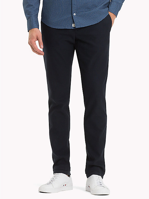TOMMY HILFIGER Honeycomb Slim Fit Chinos - SKY CAPTAIN - TOMMY HILFIGER Clothing - main image