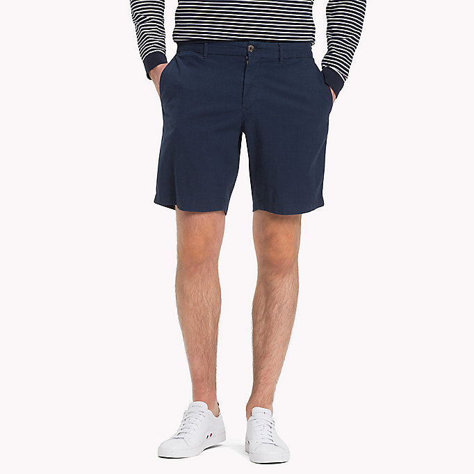TOMMY HILFIGER Denim Chambray Shorts - COOL BLUE - TOMMY HILFIGER Men - main image