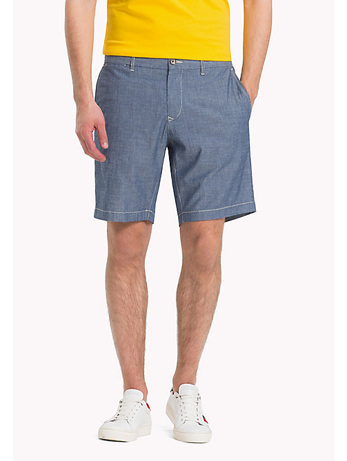 TOMMY HILFIGER Denim Chambray Shorts - COOL BLUE - TOMMY HILFIGER Vacation Style - main image
