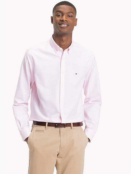 TOMMY HILFIGER Oxford Cotton Shirt - PINK - TOMMY HILFIGER What to wear - detail image 1