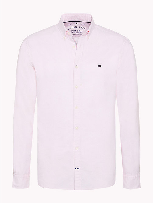 TOMMY HILFIGER Oxford Cotton Shirt - PINK - TOMMY HILFIGER What to wear - main image