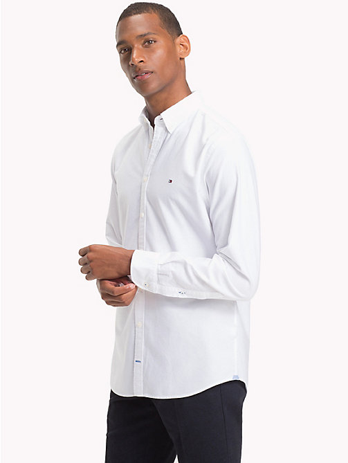TOMMY HILFIGER Oxford Cotton Shirt - BRIGHT WHITE - TOMMY HILFIGER Shirts - detail image 1