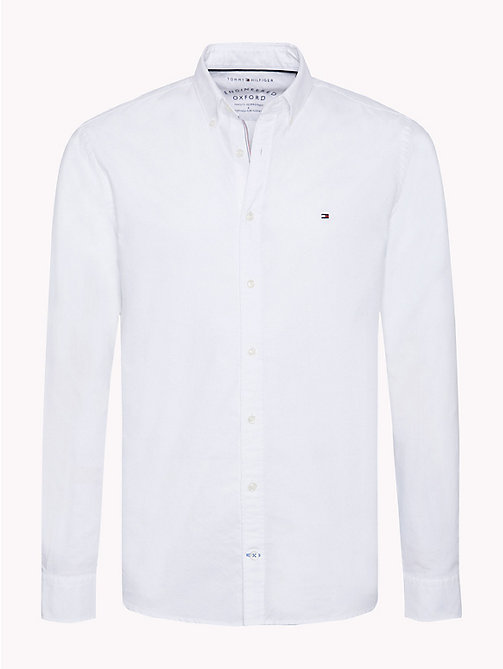 TOMMY HILFIGER Oxford Cotton Shirt - BRIGHT WHITE - TOMMY HILFIGER Shirts - main image