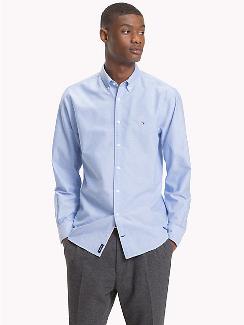 TOMMY HILFIGER Oxford Cotton Shirt - SHIRT BLUE - TOMMY HILFIGER Casual Shirts - detail image 1