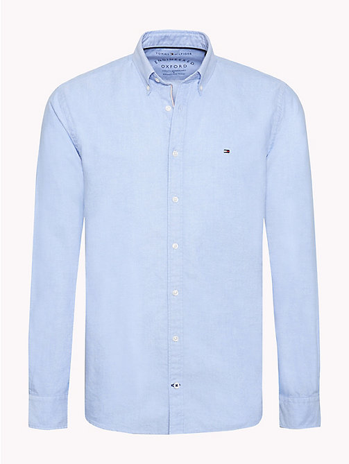 TOMMY HILFIGER Oxford Cotton Shirt - SHIRT BLUE - TOMMY HILFIGER Casual Shirts - main image