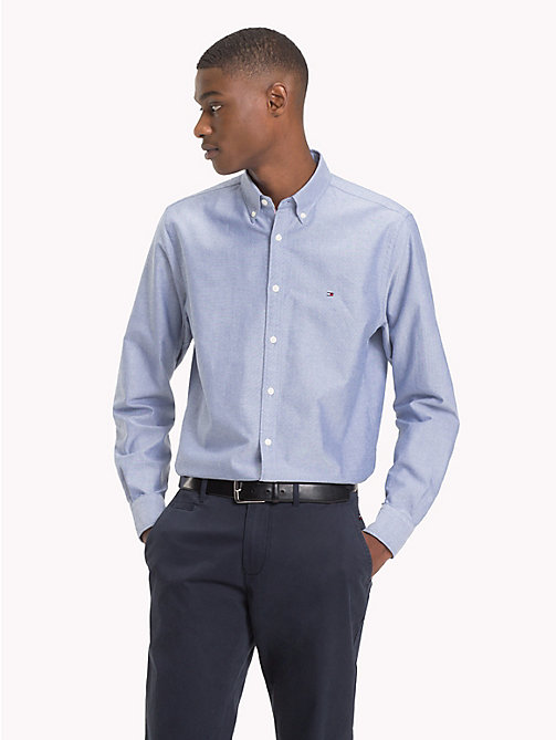 TOMMY HILFIGER Oxford Cotton Shirt - ESTATE BLUE - TOMMY HILFIGER Shirts - detail image 1