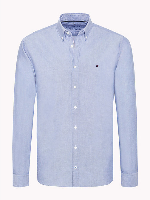 TOMMY HILFIGER Chemise en coton Oxford - ESTATE BLUE - TOMMY HILFIGER Vetements - image principale