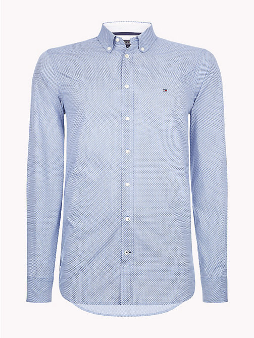 TOMMY HILFIGER Diamond Circle Print Shirt - BRIGHT WHITE / REGATTA - TOMMY HILFIGER NEW IN - main image