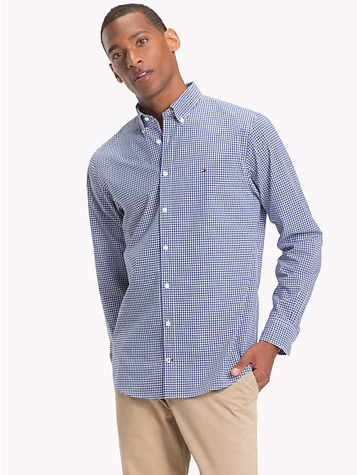 TOMMY HILFIGER Gingham Check Cotton Shirt - BLUE DEPTHS / BRIGHT WHITE - TOMMY HILFIGER NEW IN - detail image 1