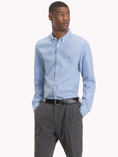 TOMMY HILFIGER Camicia regular fit in cotone - LIGHT SHIRT BLUE -  Camicie Casual - dettaglio immagine 1