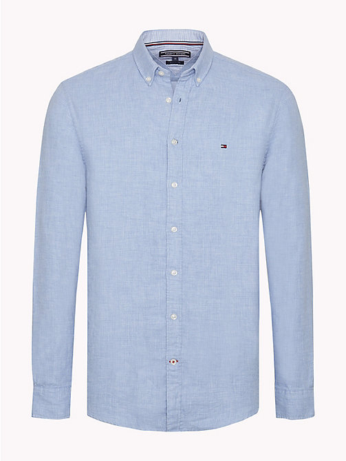 TOMMY HILFIGER Regular Fit Cotton Shirt - LIGHT SHIRT BLUE - TOMMY HILFIGER Casual Shirts - main image