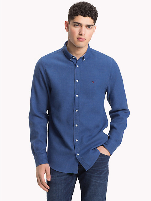 TOMMY HILFIGER Regular Fit Cotton Shirt - BLUE DEPTHS - TOMMY HILFIGER NEW IN - detail image 1