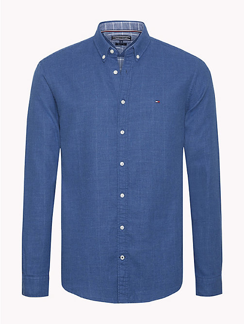 TOMMY HILFIGER Regular Fit Cotton Shirt - BLUE DEPTHS - TOMMY HILFIGER NEW IN - main image
