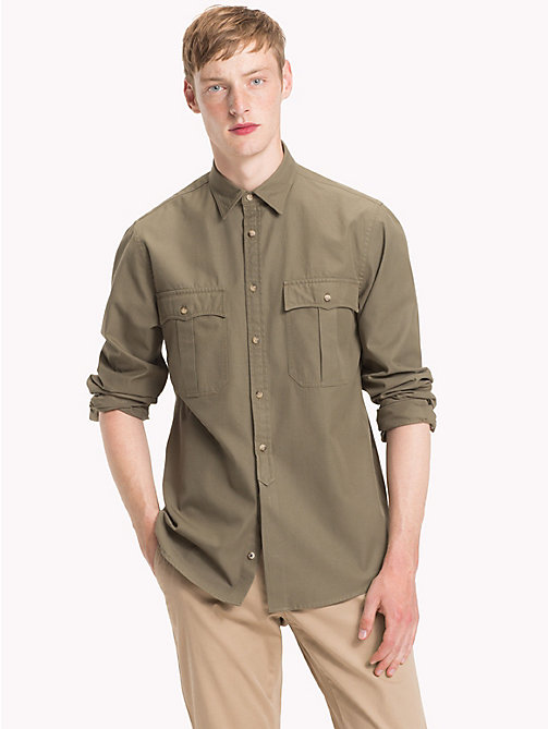 TOMMY HILFIGER Military Twill Shirt - DUSTY OLIVE - TOMMY HILFIGER Casual Shirts - detail image 1