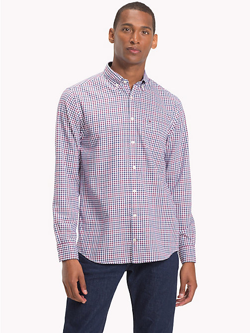 TOMMY HILFIGER Flannel Check Shirt - RHUBARB / MEDIEVAL BLUE - TOMMY HILFIGER NEW IN - detail image 1