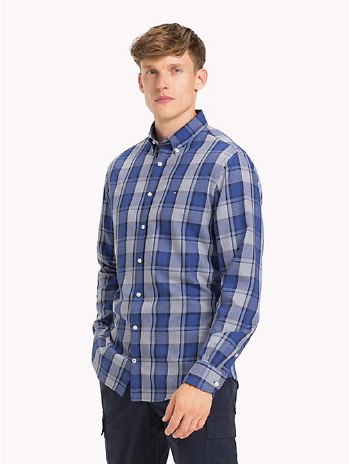 TOMMY HILFIGER All-Over Check Shirt - BLUE DEPTHS HTR / COLONY BLUE - TOMMY HILFIGER Casual Shirts - detail image 1