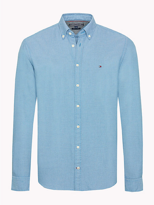TOMMY HILFIGER Textured Flannel Shirt - VIVID BLUE - TOMMY HILFIGER NEW IN - main image